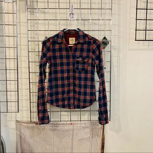 Hollister Women Button Down Shirt